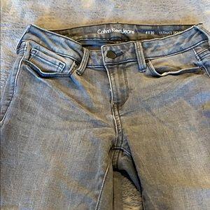 Calvin Klein ultimate skinny jeans gray